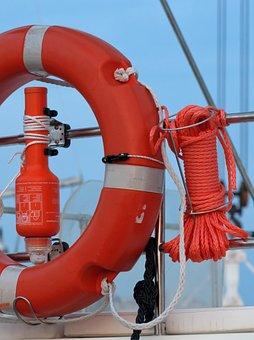 Lifebelt, Lifeline, Rescue Light, Boat, Ship, Nautical