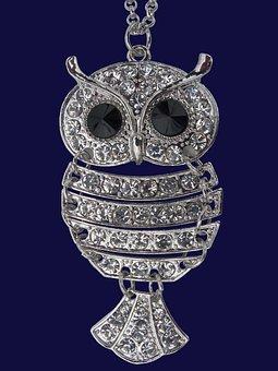 Owl, Brilliant, Jewel, Ornament, Money, Design, Brooch