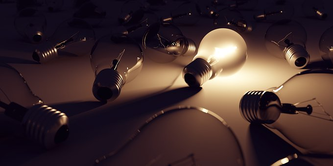 Light Bulb, 3d, Pear, Lamp, Light, Energy, Bulbs