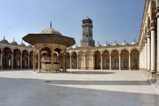 Mosque, Cairo, Egypt, Alabaster Mosque, Courtyard