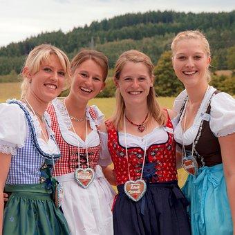 Dirndl, Girlfriends, Costume, Oktoberfest, Bavaria