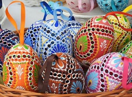 Easter Eggs, Handicraft, Easter, Eggs, Decoration