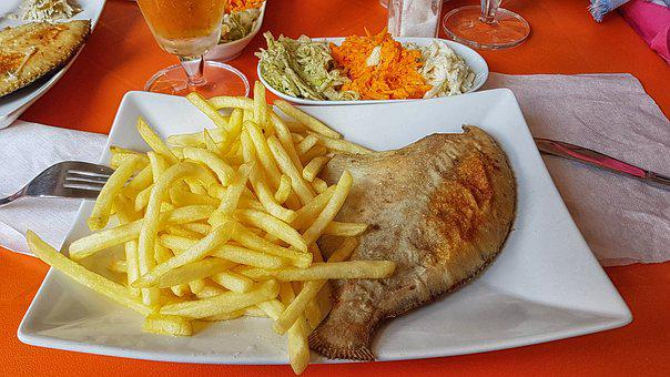 Fish, Dish, Flounder, Food, Dinner, Delicious, Eat