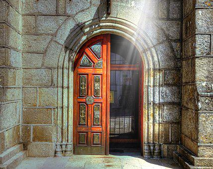 Door, Church, Architecture, Old, Gate, Portal, Chapel