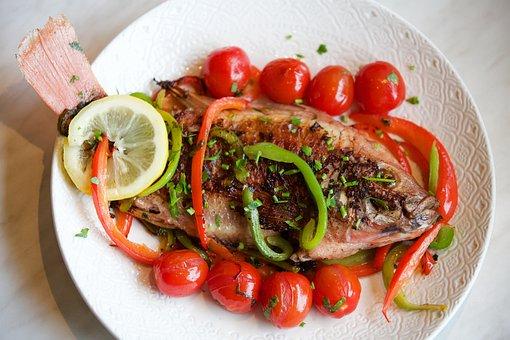 Bream, Pink, Eat, Fish, Pepper, Tomato Base, Gastronomy