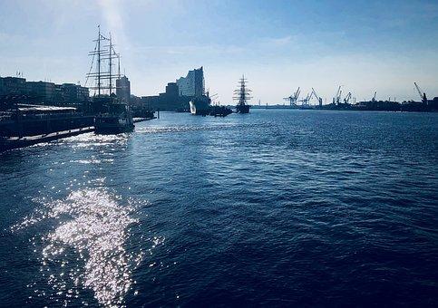 Hamburg, Port, Water, Landmark, Elbe Philharmonic Hall
