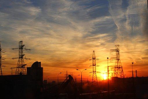 Sunset, Electricity, Energy, Sky, Technology, Evening