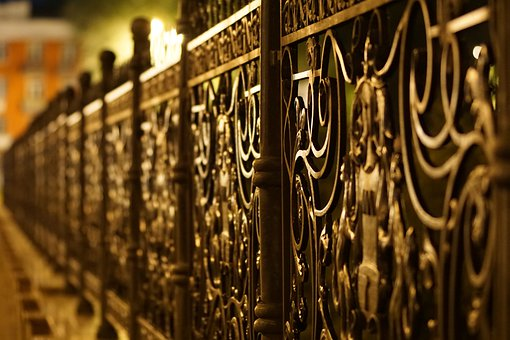 Fence, Architecture, Iron, Forged, Ornament, Steel