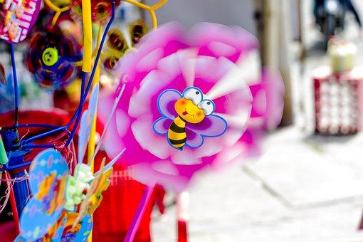 Pinwheel, Color, Colorful, Wind, Fun, Cute, Cheerful