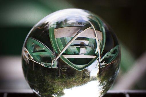 Ball, Glass, Mirroring, About, Glass Ball, Boats