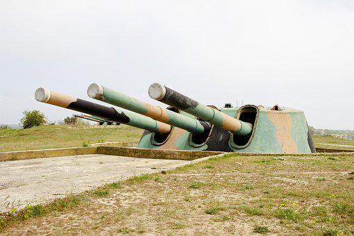Sevastopol, 30 Coastal Battery, Weapons, Gun, Cannon