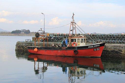 Boat, Harbor, Harbour, Fishing, Water, Sea, Landscape
