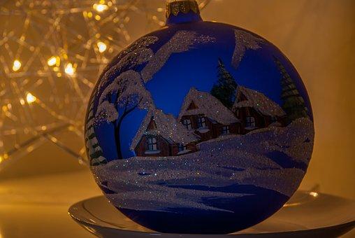 Holidays, Bauble, Christmas, Ornament, Asterisk