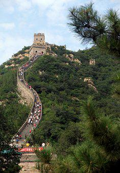 Great, Wall, Beijing, China, Sky, Mammoth, Human