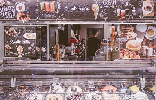Italian, Shop, Ice, Gelato, Stand, Italy, Food