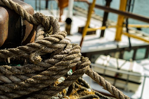 Rope, Port, Fisherman, Boat, Dew, Knot, Water, Leash