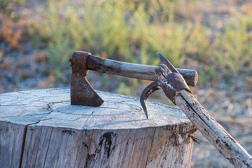 Axe, Wood, Tool, Tree, Lena, Woodcutter, Work, Tala