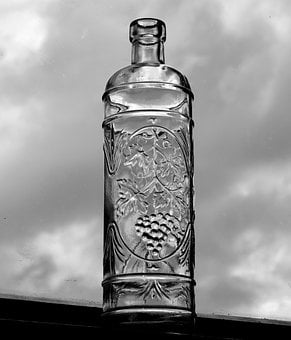 Wine, Drink, Liquor, Bottle, Glass, Antique, Vintage