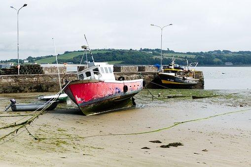 Ireland, Ship, Old, Port, Fishing, Coast, Boats, Marina