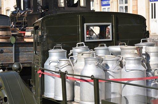 Empty Attic, Merchant Of Milk, Truck, Shipping, Pot
