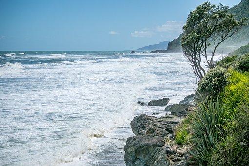 New Zealand, Nature, Landscape, Sky, Clouds, Land