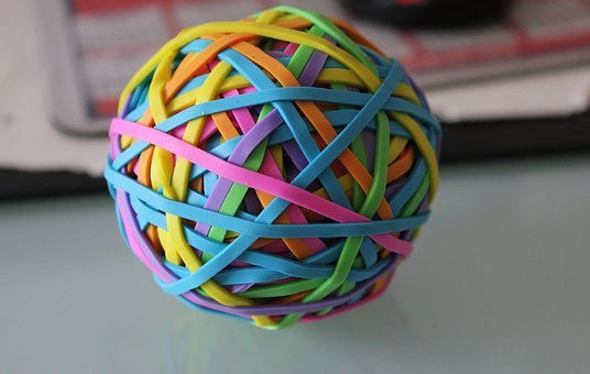 Rubber Bands, Elastic, Ball, Office Accessories