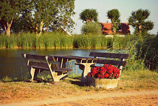 Picnic Table, Outdoor Furniture, Resting Place