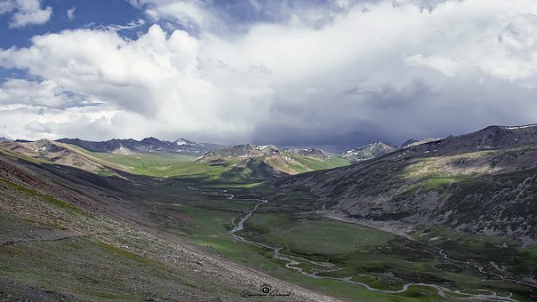 Babusir, Pass, Top, Mountains, Range, North, Pakistan