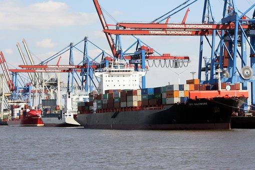 Container Ship, Eurokai, Hamburg, Port Motifs