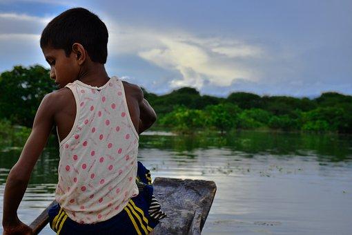 Proverty, Fishing, Ratargul, Sylhet, Bangladesh, Boat