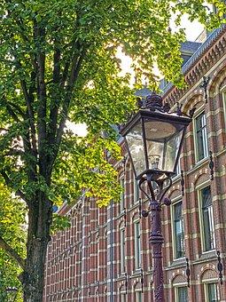 Town Hall, Building, Brick, Lantern, Tree, Crown, Red