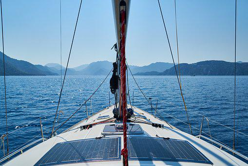 Holiday, Landscape, Boat, Sailboat, Direct, Blue, Ocean