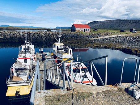 Iceland, Harbor, Ocean, Boat, Rural, Sea, Fisherman