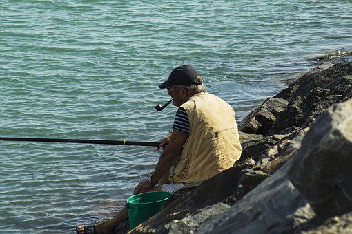 Fisherman, Sea, Ocean, Person, Summer, Relaxation