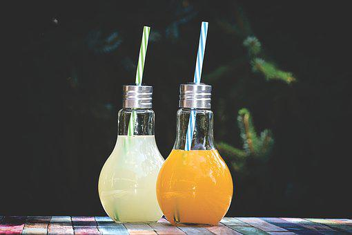 Energy Drink, Beverages, Refreshment, Glasses, Summer