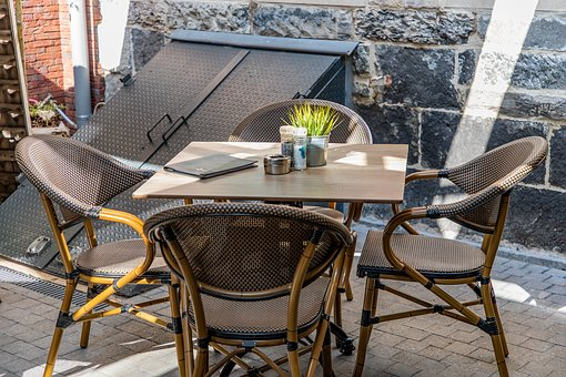 Terrace, Table, Chairs, Menu, Summer, Relaxation