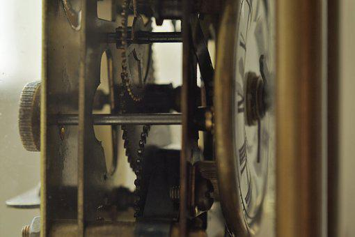 Machine, Clock, Wheels, Time, Mechanical, Old