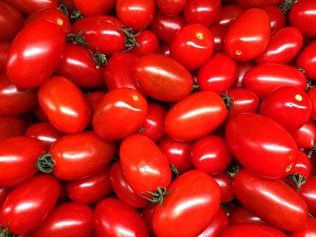 Cherry Tomato, Tomato, Vegetable, Red, Tomatoes