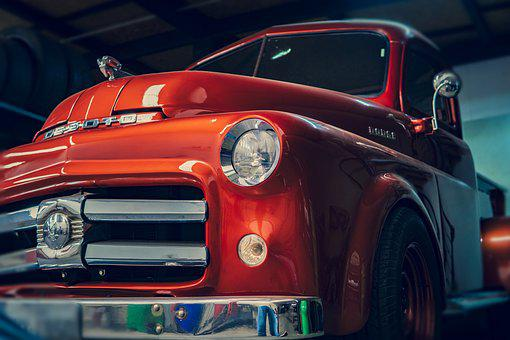 Car, Old, Red, Automobile, Vehicle, Classic, Vintage