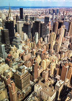 New York, Architecture, City, Buildings, Aerial