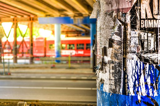 Urban, Hdr, Column, Abandoned, Architecture, City