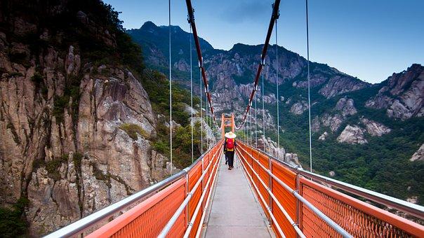 Travel, Bridge, Adventure, Gureumdari, Architecture