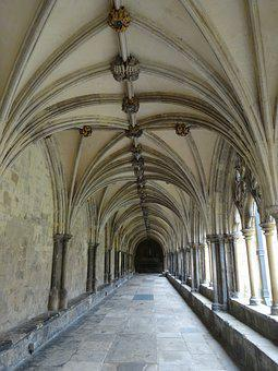 Cloister, Vault, Architecture, Gang, Building, Archway