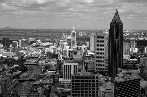 Atlanta, Georgia, Usa, Tourism, City, Skyscrapers