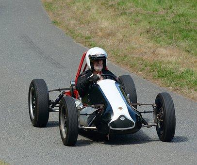 Hillclimb, Car, Vintage, Speed, Motorsport, Road