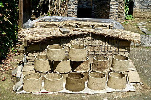 Pottery, Clay, Pots, Containers, Traditional, Vessel