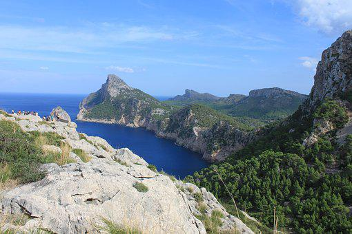 Mallorca, Cliff, Sea, Coast, Rock, Landscape