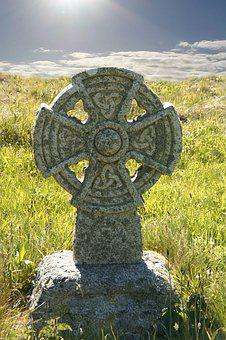 Celtic Cross, England, Cornwall, Tombstone, Cross, Roof