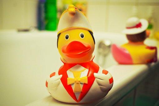 Toys, Duck, Yellow, Funny, Fun, Bad, Squeak Duck, Cute