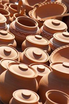 Pot, Jug, Pottery, Clay, Vase, Decorative, Needlework